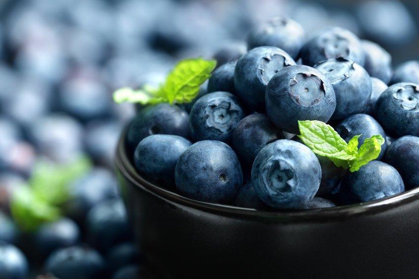 crunchy blue berries