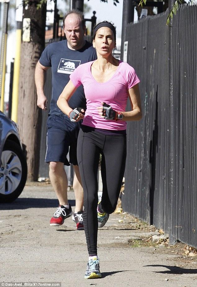 Teri Hatcher running