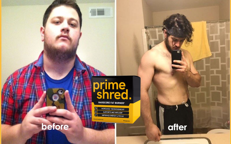 Primeshred results - before and after weight loss