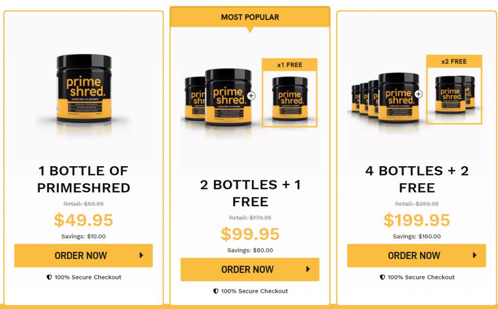 Buy Primeshred fat burning supplements